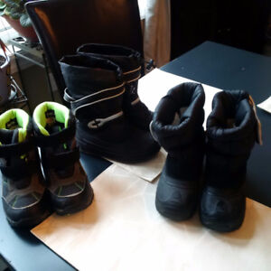 3 pairs boys size 12 boots