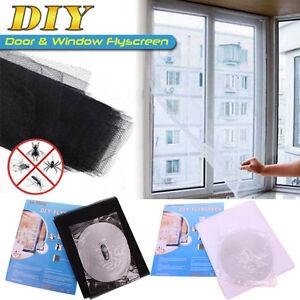 moustiquaire fen tre filet tissu anti moustique insecte ruban adh sif 130 150cm ebay. Black Bedroom Furniture Sets. Home Design Ideas