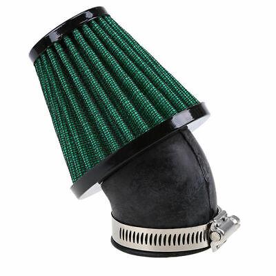 Motorcycle Racer 48MM Air Intake Filter Engine Inlet Pod 45 Degree Bend Green
