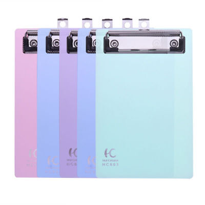 5 Pack Mini Transparent Clipboard Tiny A6 Clip Boards Colourful Plastic