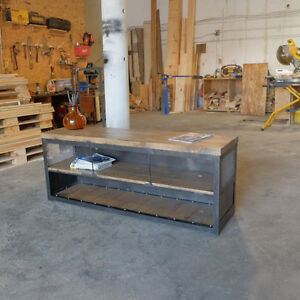 Industrial Console Side board Media Credenza goes perfectly in