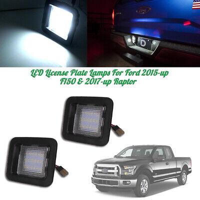 White Full LED License Number Lights For 2015-up Ford F-150 & Ford 17-up Raptor