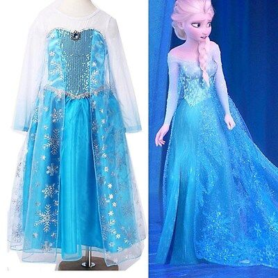 Frozen Elsa Disney inspired Dress Princess costume  IN STOCK New  FREE SHIP  - Elsa In Frozen Costume