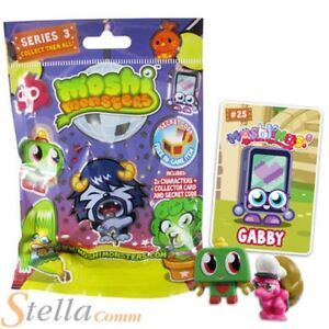 Moshi Monsters Moshling Lucky Dip 2 Figure Blind Bag & Collectors Card Series 3