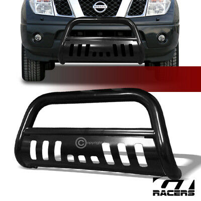 Blk Steel Bull Bar Brush Bumper Grill Grille Guard For 2005-2018 Nissan Frontier