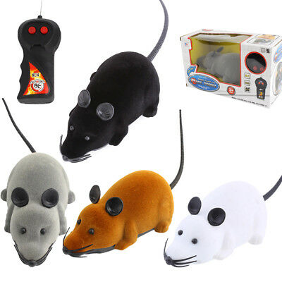 Xmas Gift Wireless Remote Control RC Electronic Rat Mouse Mice Toy For Cat Puppy ()