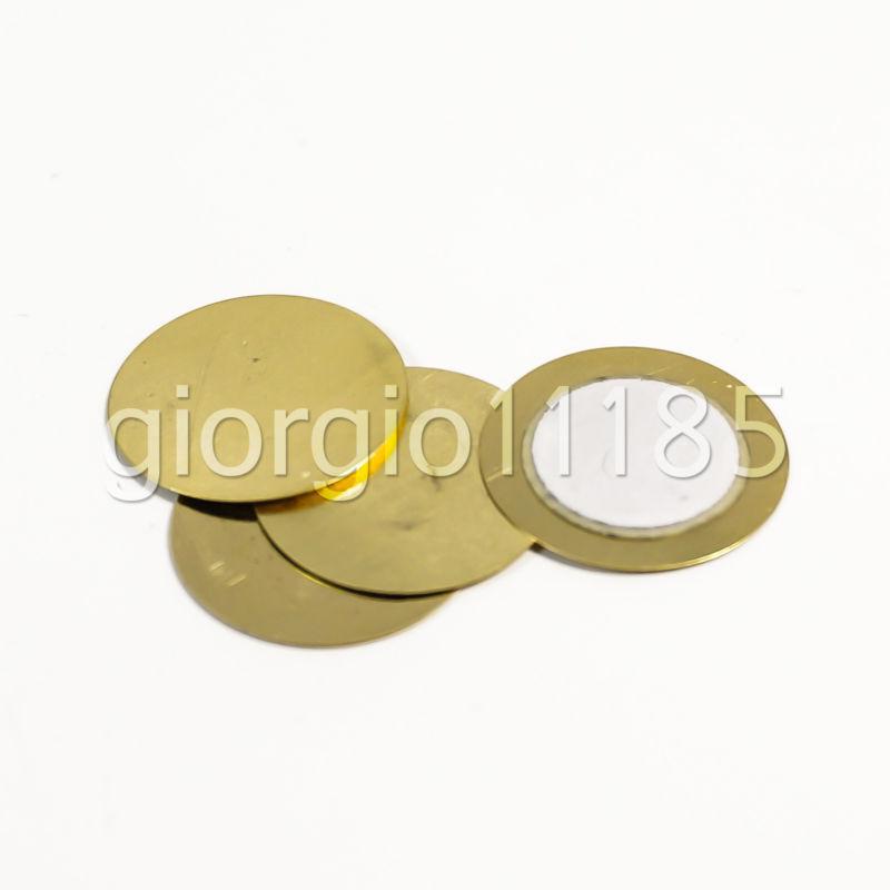 US Stock 50x 27mm Thickness 0.33mm Piezo Disc for Buzzer Pressure Sensor Speaker