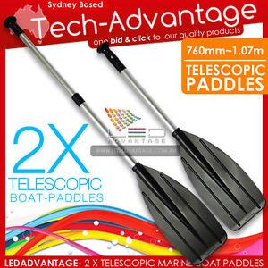 2-X-BRAND-NEW-TELESCOPIC-METRE-BOAT-CANOE-OARS-PADDLES