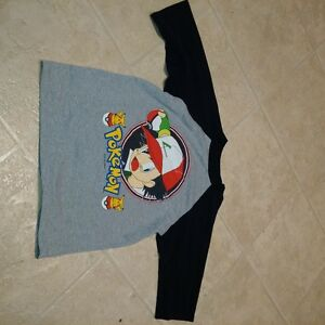 Boys Size 6X 3/4 Sleeve Pokemon Ash t-shirt Official Nintendo