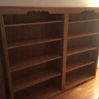 Solid Oak Double Bookshelf - Not Factory Made