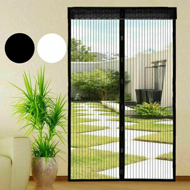 Hands-Free Magnetic Screen Door Mesh Net BLOCK Mosquito Fly