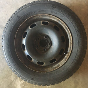 Selling winter tires on rims.  Came off my 2003 VW Jetta