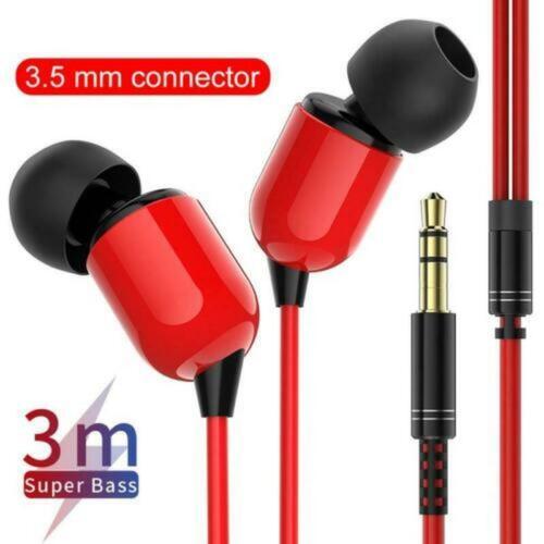 3.5mm In-Ear Earphone Stereo Earbuds Headphone With Mic HIFI Super Bass Headset