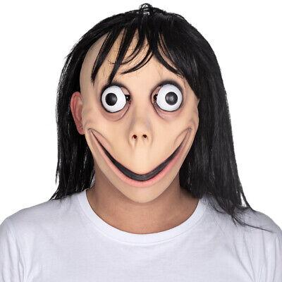 Horror Film Halloween Costumes (Momo Halloween Costume Mask Challenge Meme Latex  MOMO Horror Film Party)