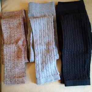 LOT OF 3 COTTON FOOTLESS LEGGINGS; SIZE M BY ARDENE