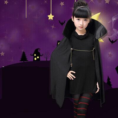 Hotel Transylvania Mavis Vampire Costume Party Fancy Girls Black Cape Full Set - Hotel Transylvania Mavis Costume
