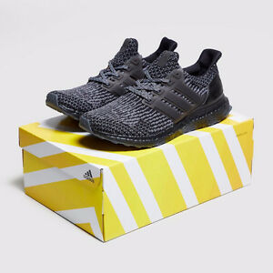 Adidas Men's Ultra Boost 3.0 Triple Black/Silver Size 11US