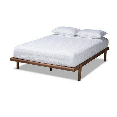 Baxton Studio Kaia Walnut Brown Finished King Size Platform