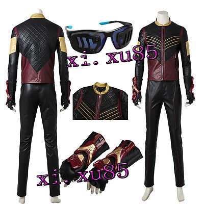 Cheap Cosplay Outfits (Halloween Cos The Flash Vibe Cosplay Outfit Costume Gloves Custom Made Jacket)