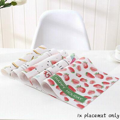 PVC Fruit Print Place Mat Restaurant Supplies Decor Insulation Dinner Table Mats