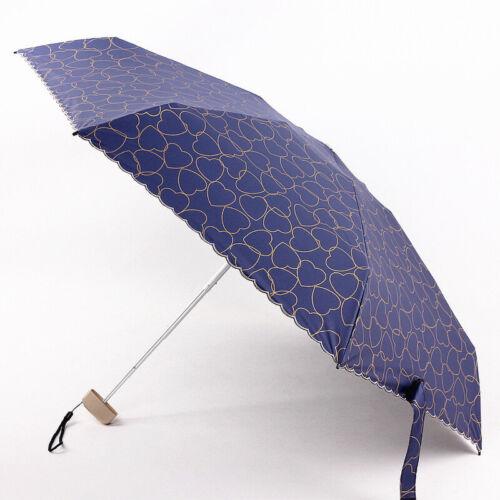 Women 5-Folding Lightweight Umbrella Windproof Compact Anti