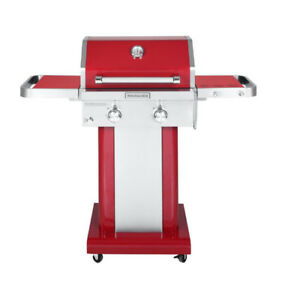 KitchenAid 2-Burner Outdoor Gas BBQ in Red Color