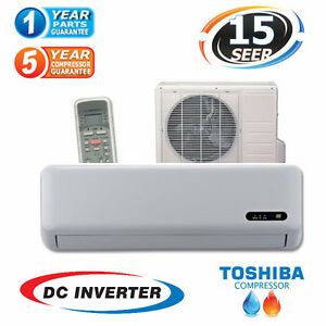 Compact Air 12000 BTU Heat Pump Seer 15 with Toshiba Compressor