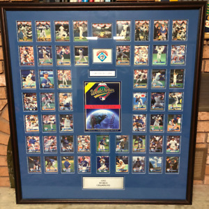 Toronto Blue Jays 1992 World Series Framed Donruss Collection