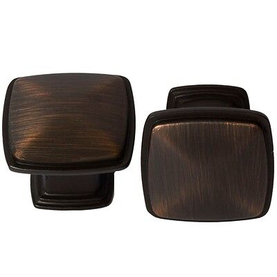 Oil Rubbed Bronze Square Kitchen Cabinet Hardware Knobs Building & Hardware