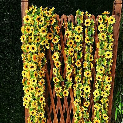 Artificial Sunflower Garland Flower Vine for Home Wedding Garden Decoration RS ()