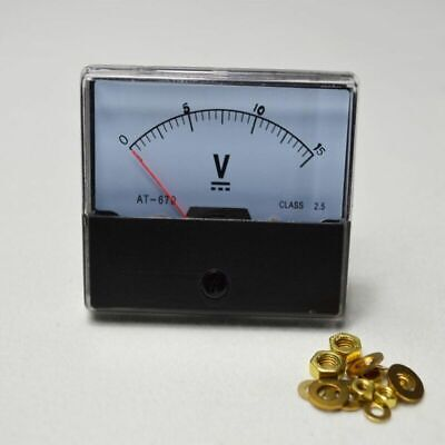 0-15v Outlet Dc Voltmeter Analog Voltage Meter Panel Analog Volt Meter New