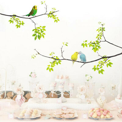 Vivid Wall Decals Birds on Tree Peel and Stick Fresh Removable Wall Stickers _ti