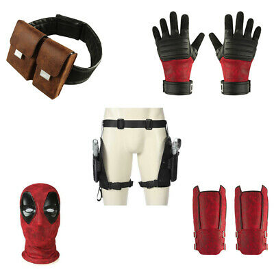 Deadpool 2 Costume Wade Cosplay Mask Belt Holster Gun Prop Halloween Accessories - Halloween Deadpool Costume