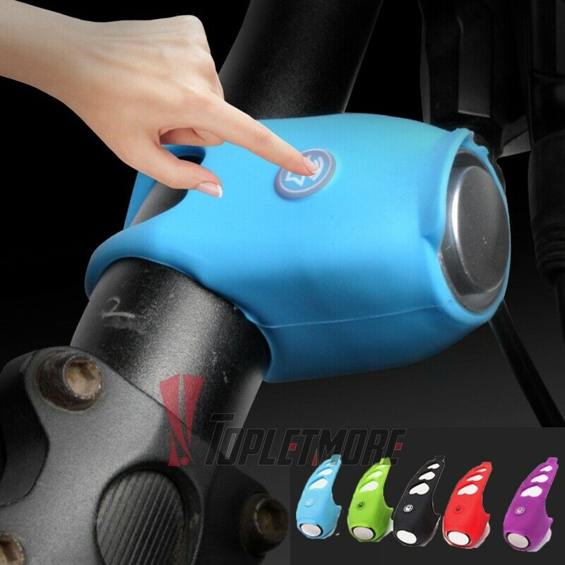 120DB Silicone Bicycle Bike Battery Bell Handlebar Alarm Cycling Ring Bell Horn