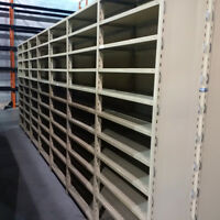 "Industrial Boltless Steel Shelving - 36"" x 15"" x 7'4"