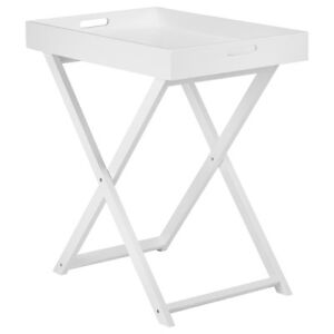 BOUCLAIR  White Foldable Tray Table with Detachable Tray Top