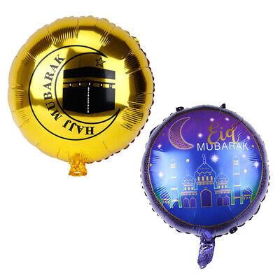 d Mubarak Folienballons Hadsch Mubarak Decor Stern Mond Ba UE (18 Folienballons)