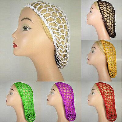 - Women Lady Soft Rayon Snood Hair Net Crochet Hairnet Knit Hat Cap Hairnet