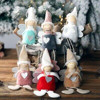 Angel Christmas Tree (Christmas Tree Plush Doll Angel Home Ornaments Decoration Toy Pendants)