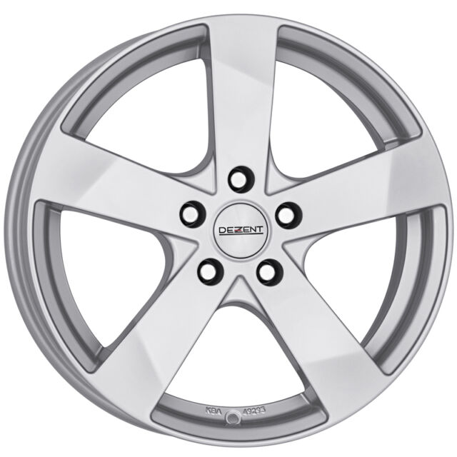 "4x Dezent - TD Alloy Wheel Rim 6.5x16"" Silver 38 Offset 5x100 PCD 57 Centre Bore"