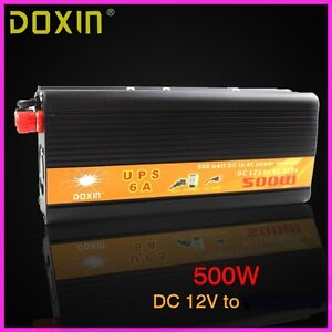 500W Input 12V  built-in charger