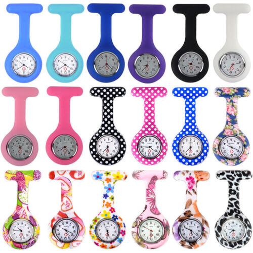 Gummi Schwesternuhr Krankenschwester Uhr Pulsuhr Pflegeuhr Taschenuhr mit Nadel.