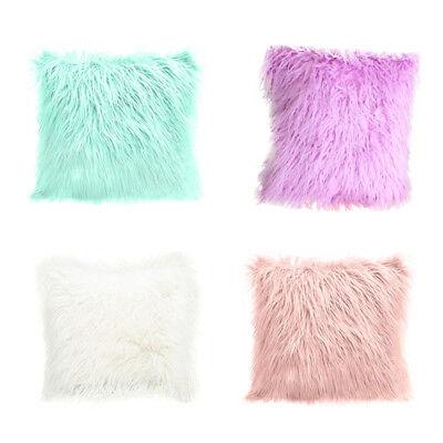 Fluffy Faux Fur Plush Soft Sofa Chair Bed Home Pillow Case C