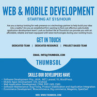 Web Development and Operations Management (Rates from $15/hr)