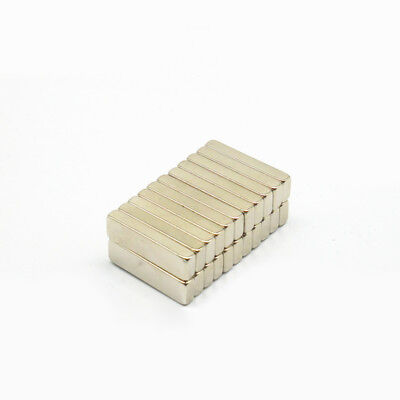 10pcs 20x6x3mm Rectangular Neodymium Magnet Rare Earth Block Strong Craft Magnet for sale  Shipping to Canada