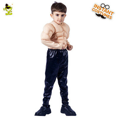 Kids Cool Muscle Man Costume Kids Strong Muscle Boy Cosplay Fancy Dress for - Muscle Man Costume For Kids