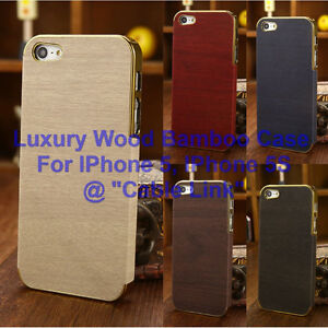 Wood Bamboo Hybrid Bumper Back Case For Apple iPhone 5 5S