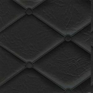 Diamond Quilted Heat Sealed Black Vinyl Auto 2 Yards