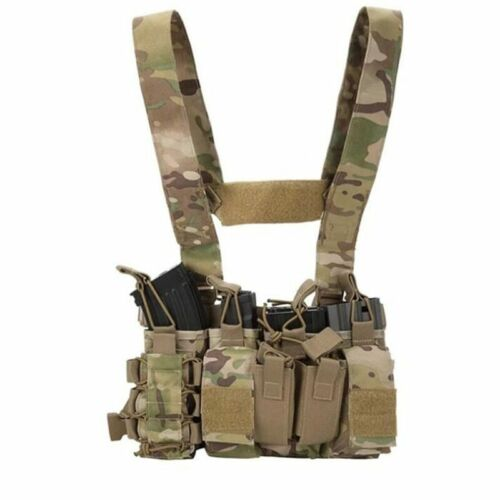 Sirius Survival Tactical Chest Rig with 4 Molle Pouches - Tactical Chest Harness