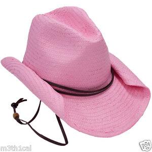 rolled brim womens pink cowboy hat costume